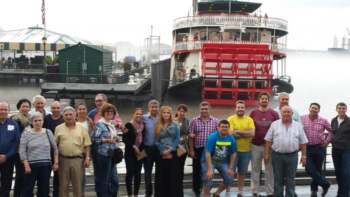 We are ready on get on the Natchez for our 2 hours river cruise tour.